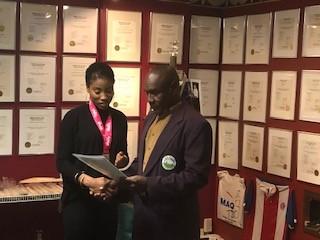Jamaica's Sunshine Girl visits Cricket Hall of Fame